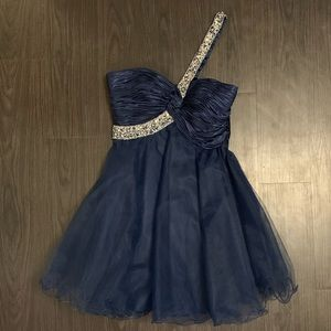 One Strap Cocktail Dress